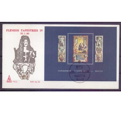 Znaczek Malta 1980 Mi bl 6 FDC