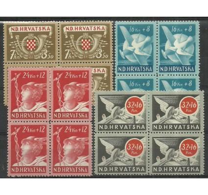 Znaczek Chorwacja 1944 Mi 150-153 Czyste **