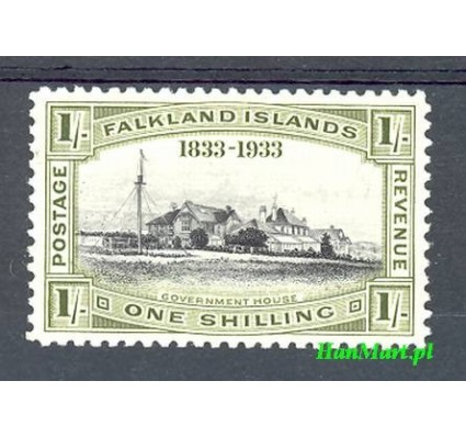Falklandy 1933 Mi 66 Z podlepką *