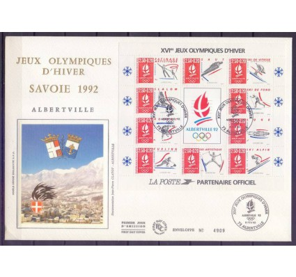 Znaczek Francja 1992 Mi bl 12 FDC