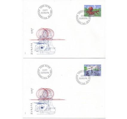 Znaczek Szwajcaria 1987 Mi 1349-1350 FDC