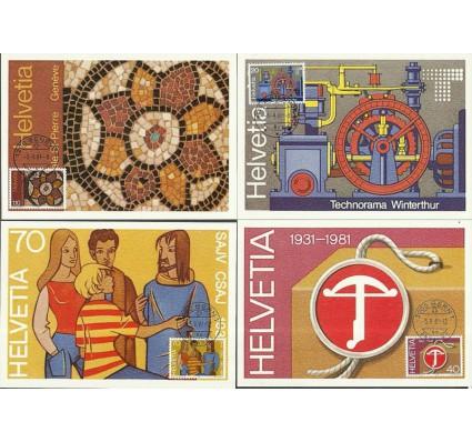 Znaczek Szwajcaria 1981 Mi 1206-1209 Karta Max