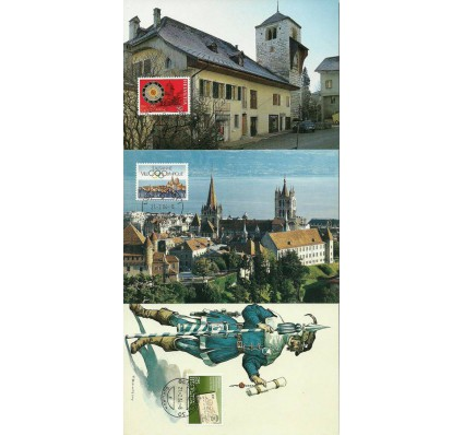 Znaczek Szwajcaria 1984 Mi 1267-1269 Karta Max