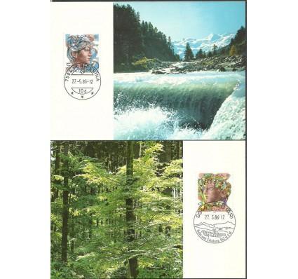 Znaczek Szwajcaria 1986 Mi 1315-1316 Karta Max