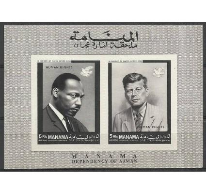 Znaczek Manama 1968 Mi bl 8 Czyste **