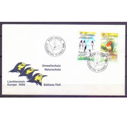 Znaczek Liechtenstein 1986 Mi 893-894 FDC