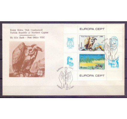 Znaczek Cypr Północny 1986 Mi bl 5 FDC