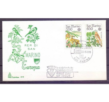 Znaczek San Marino 1986 Mi 1339-1340 FDC