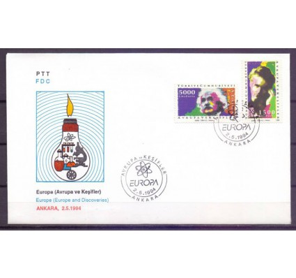 Znaczek Turcja 1994 Mi 3017-3018 FDC