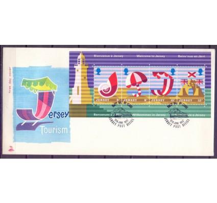 Znaczek Jersey 1975 Mi bl 1 FDC