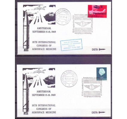 Znaczek Holandia 1969 Mi 641 + 902 FDC