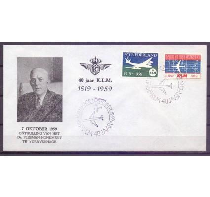 Znaczek Holandia 1959 Mi 737-738 FDC