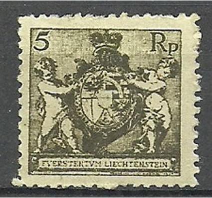 Znaczek Liechtenstein 1921 Mi 48B Czyste **