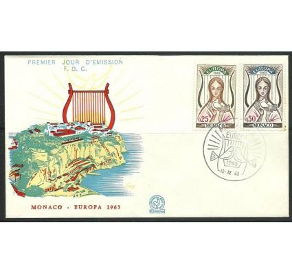 Znaczek Monako 1963 Mi 742-743 FDC