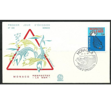 Znaczek Monako 1981 Mi 1464 FDC