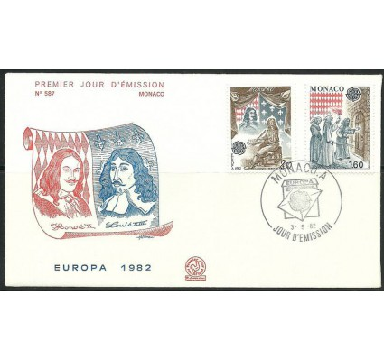 Znaczek Monako 1982 Mi 1526-1527 FDC