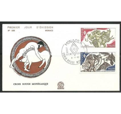 Znaczek Monako 1982 Mi 1551-1552 FDC