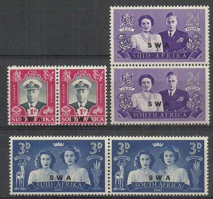 Znaczek Namibia 1947 Mi 252-257 Czyste **