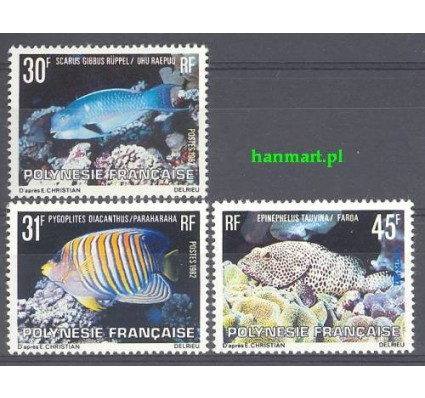 Znaczek Polinezja Francuska 1982 Mi 343-345 Czyste **