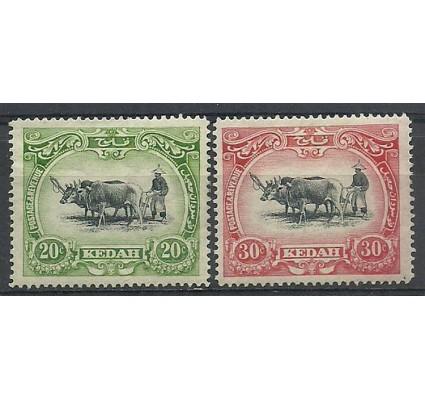 Znaczek Malezja Kedah 1912 Mi 7-8 Z podlepką *