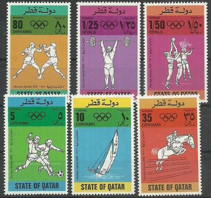 Znaczek Katar 1976 Mi 691-696 Czyste **