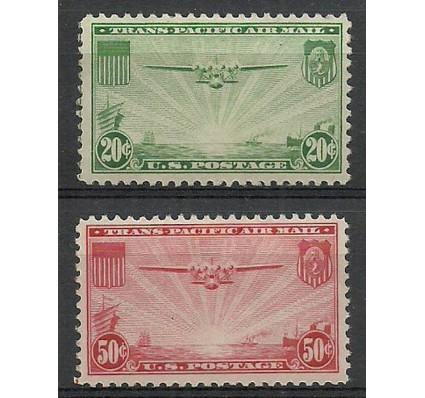 Znaczek USA 1937 Mi 400-401 Z podlepką *