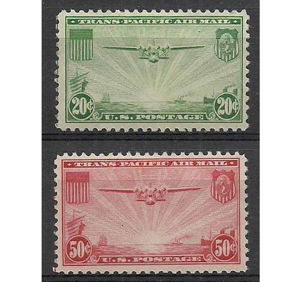 USA 1937 Mi 400-401 Z podlepką *