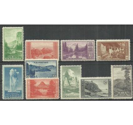 Znaczek USA 1934 Mi 364-373 Z podlepką *