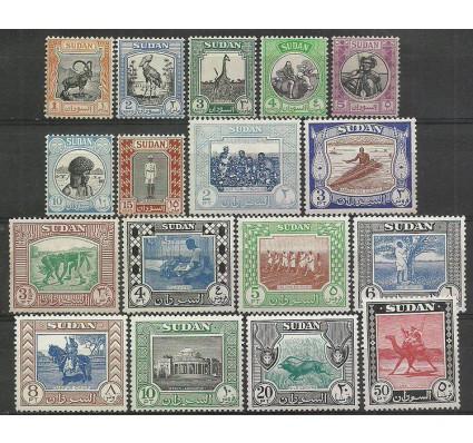 Znaczek Sudan 1951 Mi 131-147 Z podlepką *
