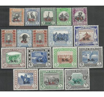 Znaczek Sudan 1951 Mi die 51-65a Czyste **