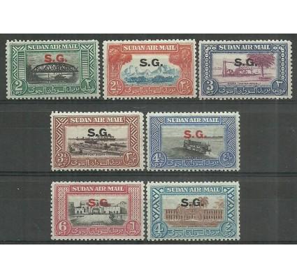 Znaczek Sudan 1950 Mi die 43-49 Czyste **