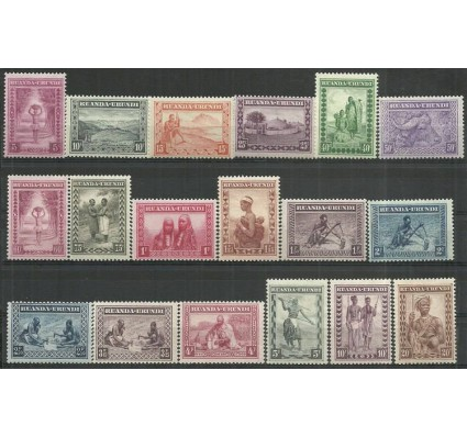 Znaczek Ruanda - Urundi 1931 Mi 43-60 Czyste **