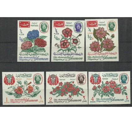 Znaczek Jemen Królestwo 1965 Mi 182-187B Czyste **