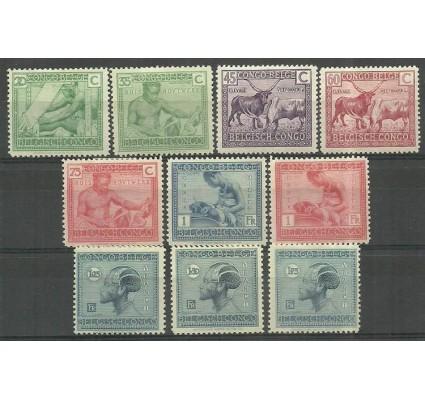 Znaczek Kongo Belgijskie 1925 Mi 84-93 Z podlepką *