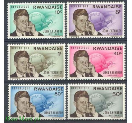 Rwanda 1965 Mi 129-134 Czyste **