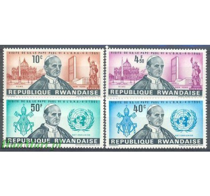 Rwanda 1966 Mi 153-156 Czyste **