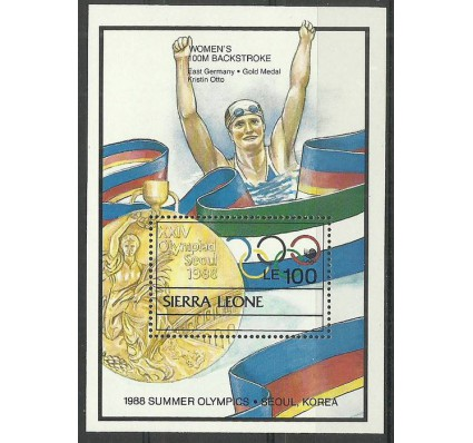 Znaczek Sierra Leone 1989 Mi bl 96 Czyste **
