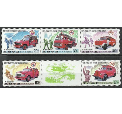 Znaczek Korea Północna 2001 Mi 4424-4428 Czyste **