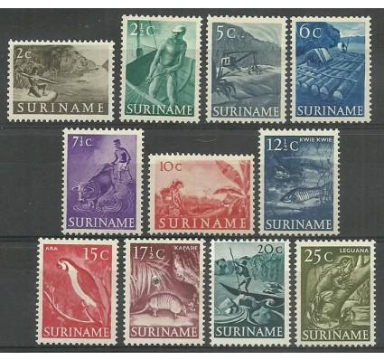 Znaczek Surinam 1953 Mi 332-342 Z podlepką *