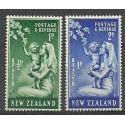 Nowa Zelandia 1949 Mi 307-308 Czyste **