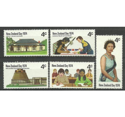 Znaczek Nowa Zelandia 1974 Mi 625-629 Czyste **
