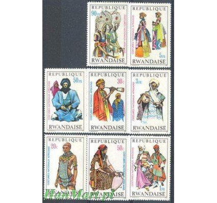 Znaczek Rwanda 1970 Mi 376-383 Czyste **