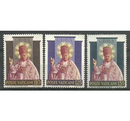 Znaczek Watykan 1954 Mi 220-222 Z podlepką *