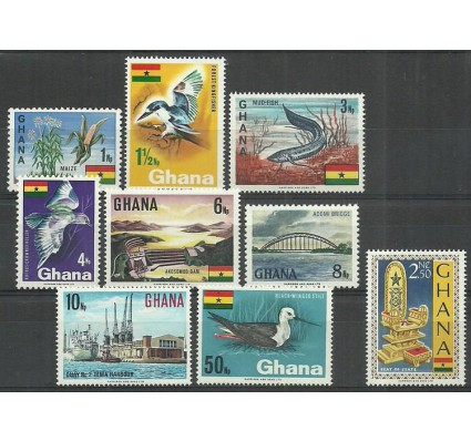 Znaczek Ghana 1967 Mi 297-305 Czyste **