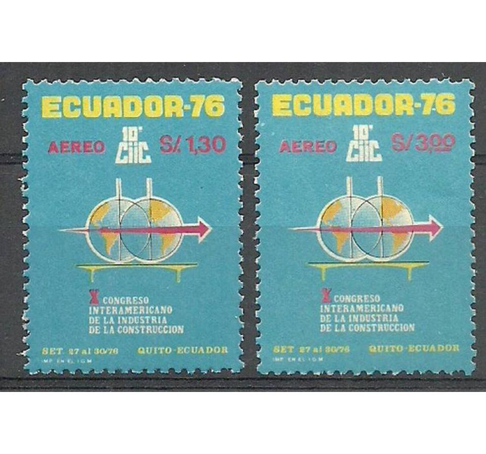 Ekwador 1976 Mi 1732-1733 Czyste **