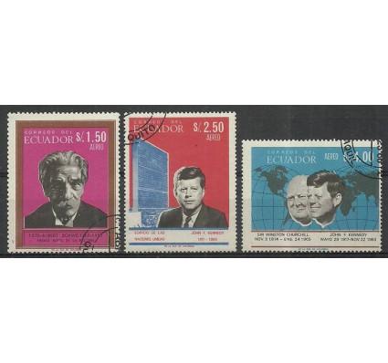 Znaczek Ekwador 1966 Mi 1253-1255 Stemplowane