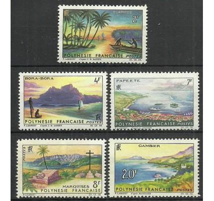 Znaczek Polinezja Francuska 1964 Mi 38-42 Z podlepką *