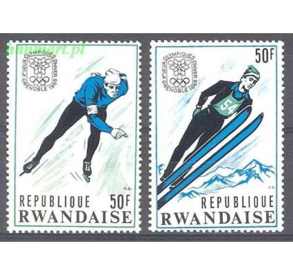 Znaczek Rwanda 1968 Mi 259-260 Czyste **