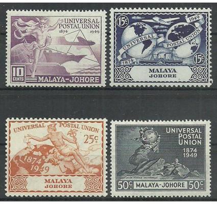 Znaczek Malezja Johor 1948 Mi joh136-139 Czyste **