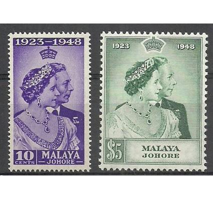 Znaczek Malezja Johor 1948 Mi joh113-114 Z podlepką *